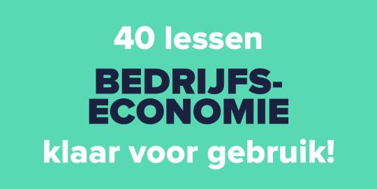 Probeer nu de eerste 40 lessen bedrijfseconomie!
