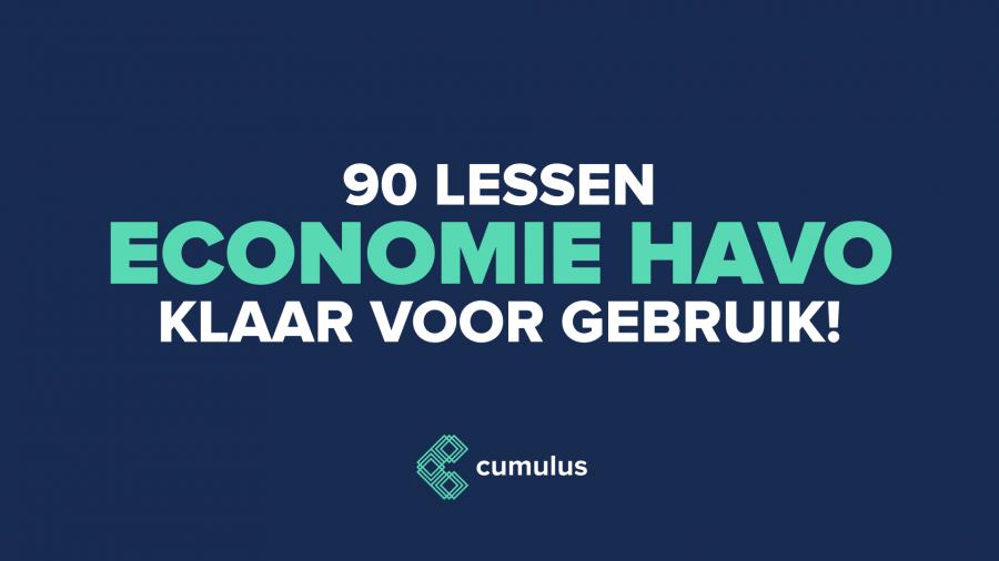 Probeer nu de eerste 90 lessen economie (havo)!